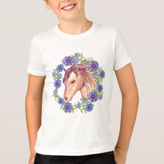 Camiseta Cavalo da margarida azul