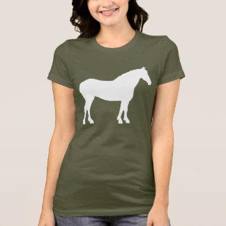 Camiseta Cavalo de esboço (branco)