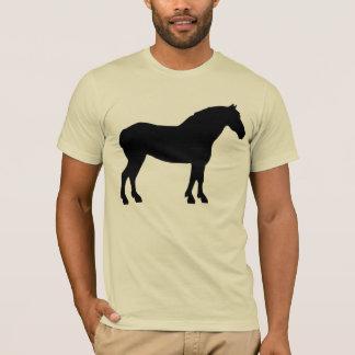 Camiseta Cavalo de esboço (camisas & t-shirt leves)