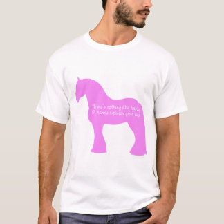Camiseta Cavalo de esboço de 12 mãos