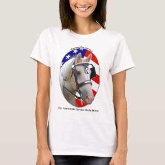Camiseta Cavalo de esboço de creme americano patriótico