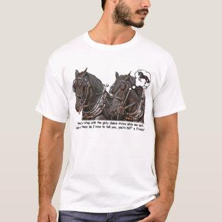 Camiseta Cavalo de esboço do frisão do presunçoso de