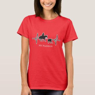 Camiseta Cavalo do corte do rodeio - minha pulsação do