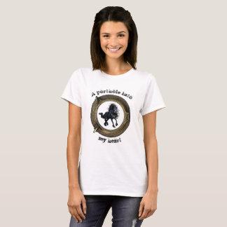 Camiseta Cavalo do frisão, vigia do navio/portal no coração