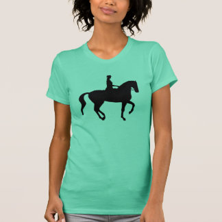 Camiseta Cavalo e cavaleiro do adestramento de Piaffe