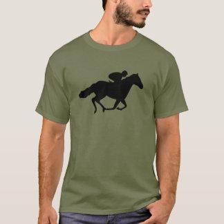 Camiseta Cavalo e Jockey. de raça