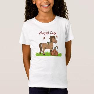 Camiseta Cavalo e t-shirt personalizados das abóboras para
