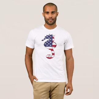 "Camiseta Cavalo marinho ""bandeira americana """