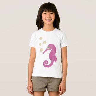 Camiseta Cavalo marinho cor-de-rosa