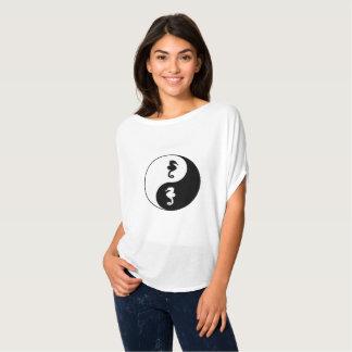Camiseta Cavalo marinho de Yin Yang