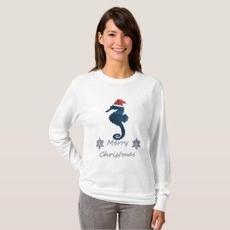 Camiseta Cavalo marinho do Natal