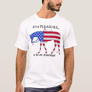 Camiseta Cavalo ocidental patriótico do prazer