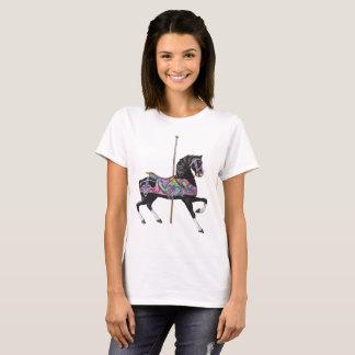 Camiseta Cavalo preto do carrossel