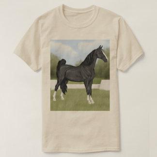 Camiseta Cavalo preto Sela-produzido americano