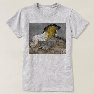 Camiseta Cavalo selvagem do Appaloosa do Buckskin