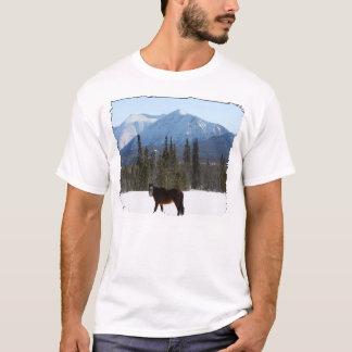 Camiseta Cavalo selvagem na estrada de Alaska