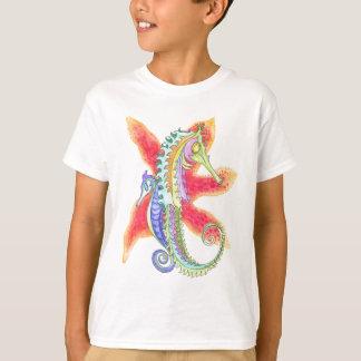 Camiseta Cavalos marinhos e estrela do mar