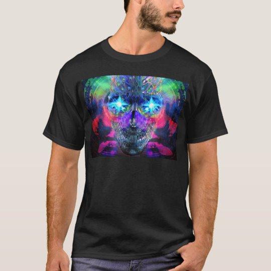 Camiseta caveira psicodelica