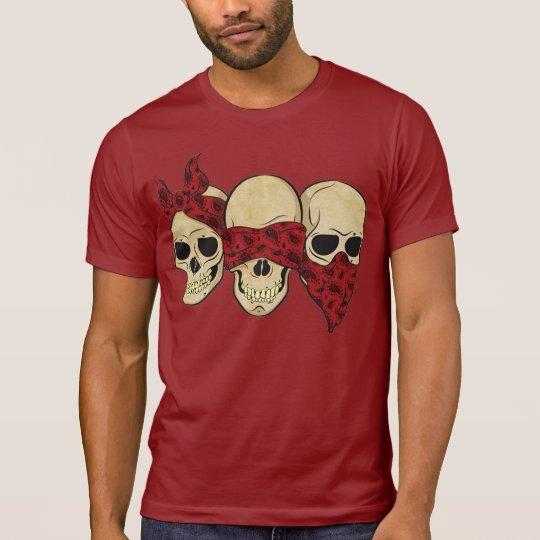"""Camiseta """"Caveira (surda, cega, muda)"""""""
