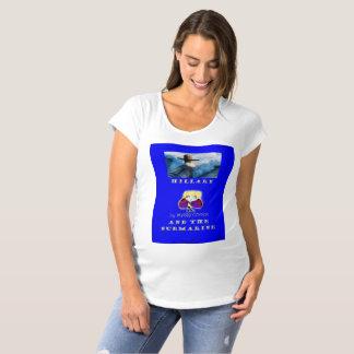 Camiseta caverna secreta submarina de maternidade de