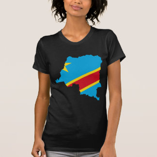 Camiseta CD do mapa da bandeira de Congo