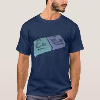 Camiseta Cees como o cério do Ce e o einsteinio do Es