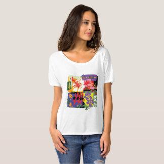 Camiseta Celebração floral - os t'shirts das mulheres