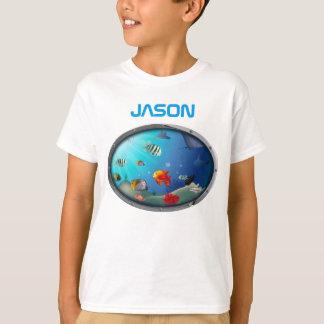 Camiseta Cena colorida da vida marinha