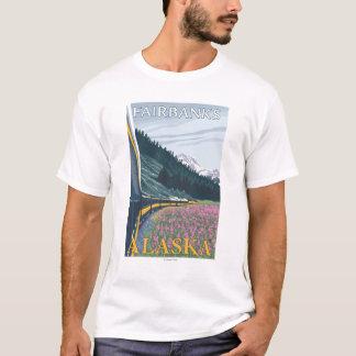 Camiseta Cena da estrada de ferro de Alaska - Fairbanks,