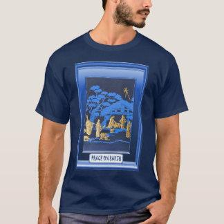 Camiseta Cena da natividade, azul