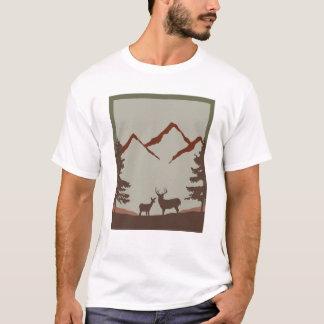 Camiseta Cena montanhosa dos cervos