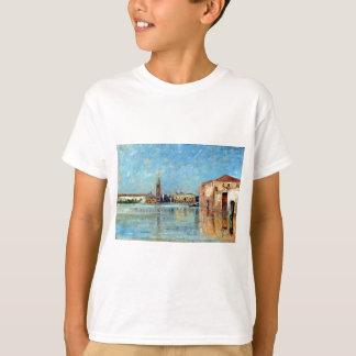 Camiseta Cena Venetian do canal do palácio do Doge de Carl