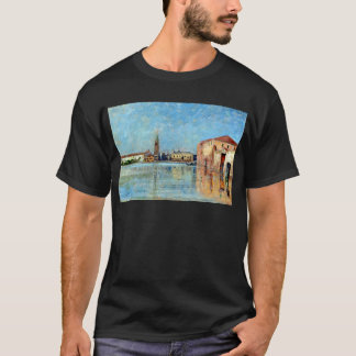 Camiseta Cena Venetian do canal do palácio do Doge de Carl