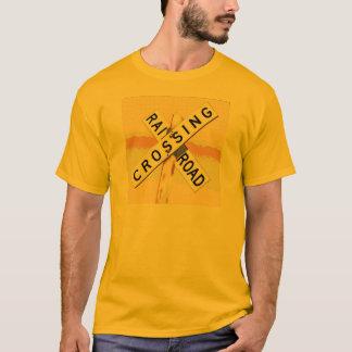 Camiseta Cenário puro da estrada de ferro