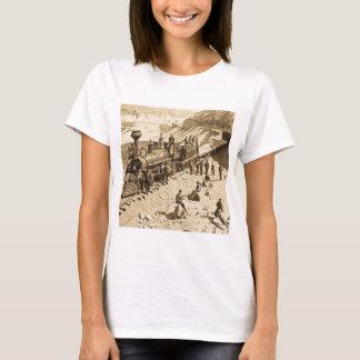 Camiseta Cenas no Sepia pacífico da estrada de ferro da