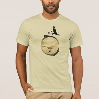 Camiseta Central do DESLIZAMENTO de CAIR HG-CIRCLE 006