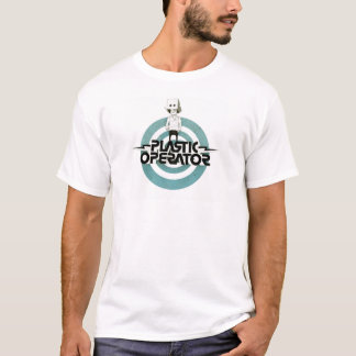 Camiseta Centro plástico do logotipo do caráter do operador