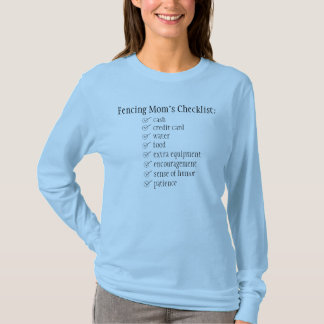 Camiseta Cercando a lista de verificação da mãe