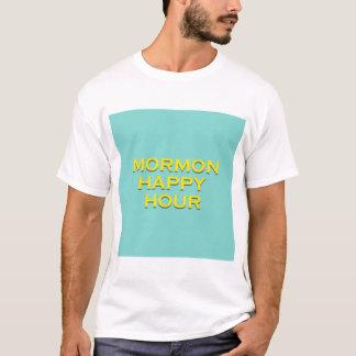 Camiseta Cerceta e amarelo do happy hour do Mormon