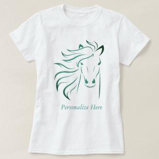 Camiseta Cerceta glamoroso personalizada da arte do pônei