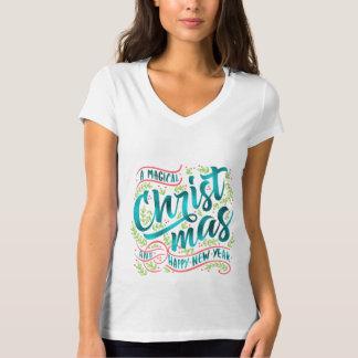 Camiseta Cerceta mágica ID441 da tipografia do Natal