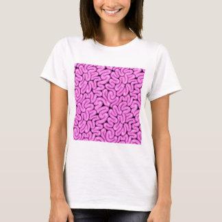 Camiseta Cérebro cor-de-rosa do zombi - impressão do