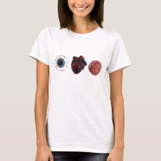 Camiseta Cérebros do coração do olho