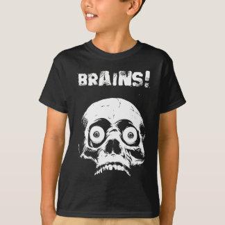 Camiseta Cérebros do t-shirt do zombi dos miúdos - Romero
