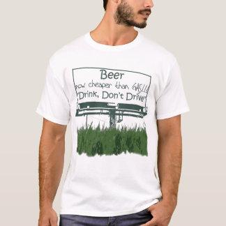 Camiseta Cerveja, agora mais barata do que o gás
