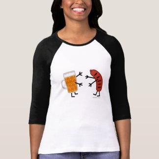 Camiseta Cerveja & bratwurst - comida amigável engraçada