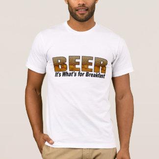 Camiseta Cerveja-é o que é para o pequeno almoço