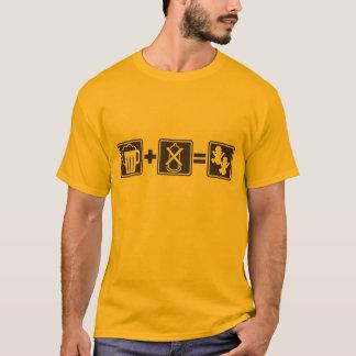 Camiseta Cerveja engraçada + nenhum preservativo = t-shirt