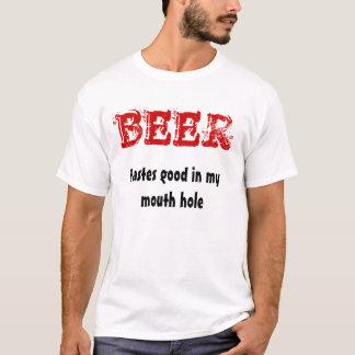 Camiseta CERVEJA, gostos bons em meu furo de boca