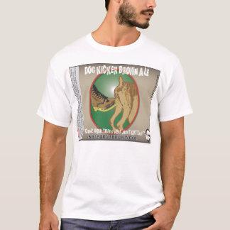 Camiseta Cerveja inglesa de Brown do retrocesso do cão